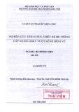 Luận văn thạc sĩ : Nghiên cứu tính toán, thiết kế hệ thống cáp ngầm 220kV vượt kênh đình Vũ