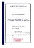 Luận văn thạc sĩ: Phát triển mạng GSM lên W - CDMA và khả năng triển khai ở Campuchia