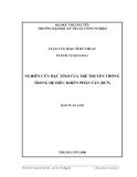 Luận văn:  NGHIÊN CỨU ĐẶC TÍNH CỦA TRỄ TRUYỀN THÔNG TRONG HỆ ĐIỀU KHIỂN PHÂN TÁN (DCS)