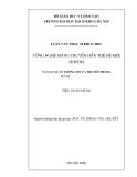 Luận văn thạc sĩ: Công nghệ mạng truyền dẫn thế hệ mới IP/WDM