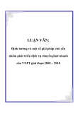 LUẬN VĂN: Định hướng và một số giải pháp chủ yếu nhằm phát triển dịch vụ chuyển phát nhanh của VNPT giai đoạn 2005 – 2010