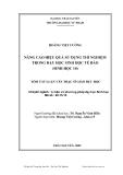 Luận văn:  NÂNG CAO HIỆU QUẢ SỬ DỤNG THÍ NGHIỆM TRONG DẠY HỌC SINH HỌC TẾ BÀO (SINH HỌC 10)