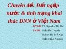 Đất ngập nước và tình trạng khai thác đất ngập nước ở Việt Nam