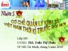 Đề tài : cơ chế quản lý kinh tế Việt Nam thời kỳ trước đỏi mới