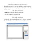 Giới thiệu sơ về phần mềm photoshop