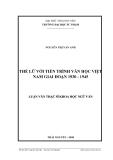 Luận văn:  THẾ LỮ VỚI TIẾN TRÌNH VĂN HỌC VIỆT NAM GIAI ĐOẠN 1930 - 1945