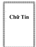 Chữ Tín trong cuộc sống