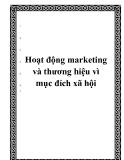 Hoạt động marketing và thương hiệu vì mục đích xã hội