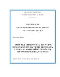 Luận văn: PHÂN TÍCH CHÍNH SÁCH CỔ TỨC VÀ TÁC ĐỘNG CỦA NÓ ĐẾN GIÁ TRỊ THỊ TRƯỜNG CỦA CÁC DOANH NGHIỆP NIÊM YẾT TRÊN THỊ TRƯỜNG CHỨNG KHOÁN VIỆT NAM