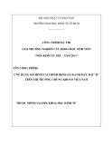 Luận văn: ỨNG DỤNG MÔ HÌNH TÀI CHÍNH ĐỊNH GIÁ DANH MỤC ĐẦU TƯ TRÊN THỊ TRƯỜNG CHỨNG KHOÁN VIỆT NAM