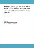Báo cáo: khảo sát nhanh các loại hình chứng khoán phái sinh và sản phẩm giao dịch mới trên thị trường chứng khoán Việt Nam