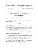 Quyết định Số: 1152/QĐ-TTg