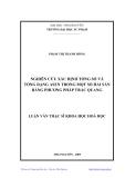 Luận văn:  NGHIÊN CỨU XÁC ĐỊNH TỔNG SỐ VÀ TỔNG DẠNG ASEN TRONG MỘT SỐ HẢI SẢN BẰNG PHƯƠNG PHÁP TRẮC QUANG