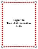 Luận văn Tính chất của môđun Artin