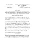 Quyết định Số: 4697/QĐ-BCT VỀ VIỆC PHÊ DUYỆT PHÒNG THÍ NGHIỆM THỰC HIỆN VIỆC GIÁM ĐỊNH HÀM LƯỢNG FORMALDEHYT, CÁC AMIN THƠM CÓ THỂ GIẢI PHÓNG RA TỪ THUỐC NHUỘM AZO TRONG CÁC ĐIỀU KIỆN KHỬ TRÊN SẢN PHẨM DỆT MAY