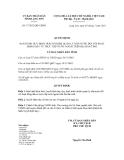 Quyết  định Số: 17/2012/QĐ-UBND BAN HÀNH QUY ĐỊNH TRÁCH NHIỆM QUẢN LÝ NHÀ NƯỚC ĐỐI VỚI HOẠT ĐỘNG ĐẦU TƯ TRỰC TIẾP NƯỚC NGOÀI TRÊN ĐỊA BÀN TỈNH