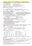 Phản ứng oxi hóa – khử, tốc độ phản ứng và cân bằng hóa học