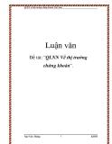 Luận văn: QLNN về thị trường chứng khoán Việt Nam