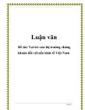 Luận văn: Vai trò của thị trường chứng khoán đối với nền kinh tế Việt Nam