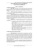 Bài 5: Khái quát về luật hình sự , luật tố tụng hình sự