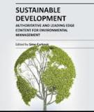 SUSTAINABLE DEVELOPMENT – AUTHORITATIVE AND LEADING EDGE CONTENT FOR ENVIRONMENTAL