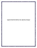 Apple đã mất đi thời kỳ bảo mật huy hoàng?