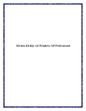 Mã hóa dữ liệu với Windows XP Professional