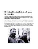 II .Những hình ảnh lịch sử mối quan hệ Việt - Lào