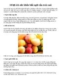 10 lợi ích sức khỏe bất ngờ của trái xoài