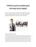 TOP10 bí quyết trở thành người bán hàng chuyên nghiệp
