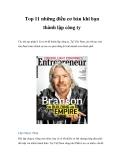 Top 11 những điều cơ bản khi bạn thành lập công ty