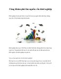 Cùng khám phá tìm nguồn vốn khởi nghiệp