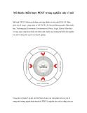 Mô hình chiến lược PEST trong nghiên cứu vĩ mô