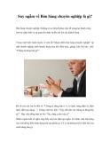 Suy ngẫm về Bán hàng chuyên nghiệp là gì?