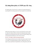Kỹ năng đàm phán và TOP 6 quy tắc vàng