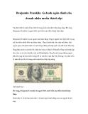 Benjamin Franklin và danh ngôn dành cho doanh nhân muốn thành đạt