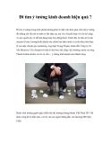 Đi tìm ý tưởng kinh doanh hiệu quả ?