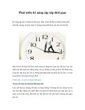 Phát triển kỹ năng sắp xếp thời gianKỹ năng sắp xếp và Quản lý thời gian |