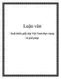 Luận văn: Xuất khẩu giầy dép Việt Nam-thực trạng và giải pháp