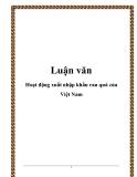 Luận văn: Hoạt động xuất nhập khẩu rau quả của Việt Nam