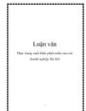 Luận văn: Thực trạng xuất khẩu phần mềm của các doanh nghiệp Hà Nội