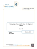 Managing a dispersed Product development process ( economic theory)
