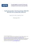 """Đề tài """"  Nguồn gốc lạm phát ở Việt Nam giai đoạn 2000-2010: phát hiện mới từ những bằng chứng mới1 """""""