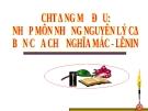 Chương mở đầu: Nhập môn Những nguyên lý cơ bản của CNMLN