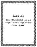Luận văn: Đầu tư tài chính trong hoạt động kinh doanh tại công ty Bảo hiểm Dầu khí Việt Nam