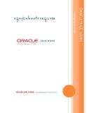 oracle thỰc hÀnh - những tác vụ cơ bản