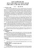 """Báo cáo đề tài:""""  Ứng dụng CNTT trong vấn đề soạn giảng và dạy học môn hóa học"""""""