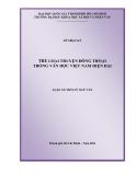 Luận án tiến sĩ ngữ văn: Thể loại truyện đồng thoại trong văn học việt nam hiện đại