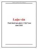 Luận văn: Tình hình lạm phát ở Việt Nam năm 2010