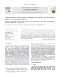 "Báo cáo khoa học "" Cordyceps militaris polysaccharides can enhance the immunity and antioxidation activity in immunosuppressed mice """